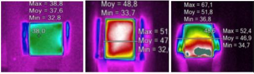 Exemples d'études de matériaux spécifiques lors d'une élévation de température