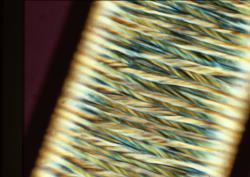 Exemples de textures de fibres textiles de spécialité (microscopie optique et électronique)